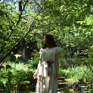 Vintage Ivory Garden or Wedding Dress
